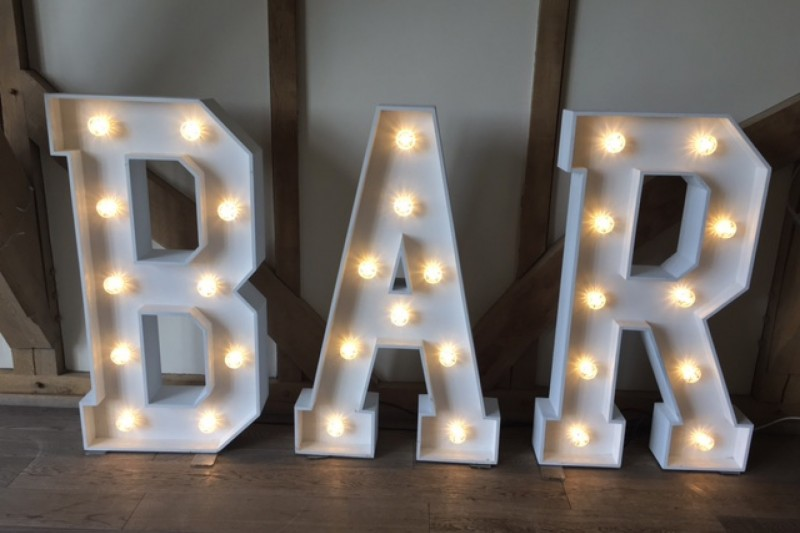 The best quality light up letters to hire in York