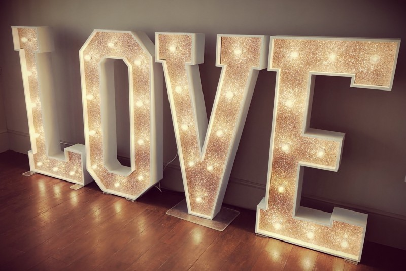 copper glitter love letters sheffield