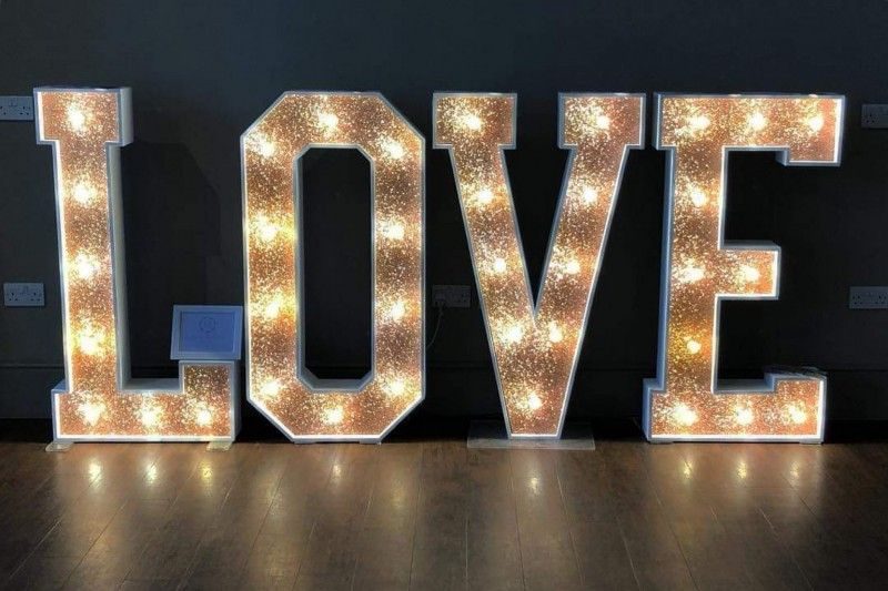 copper glitter love letters leeds