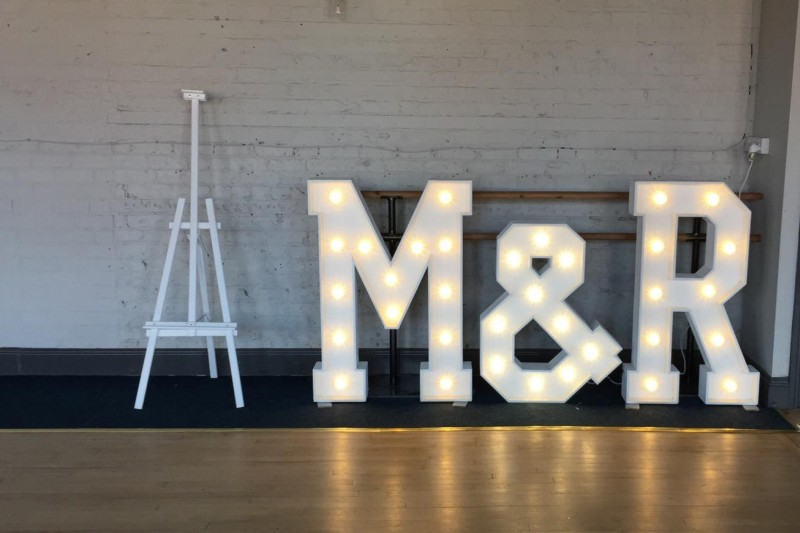 Light Up Letters to Hire in Selby Yorkshire