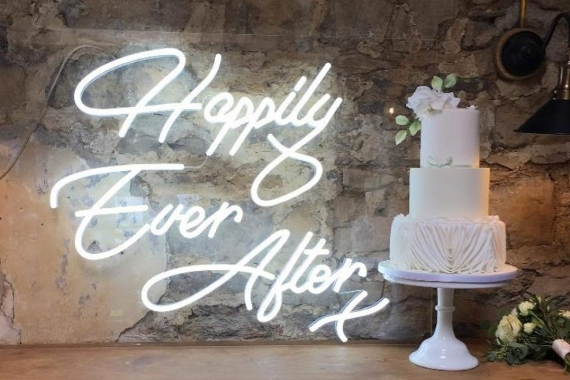 Neon 'Happily Ever After' Sign top Hire in Yorkshire