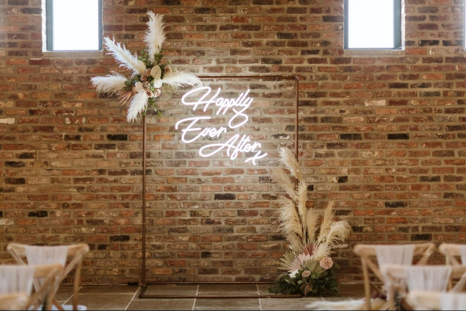 Essex Wedding Decor, Styling & Prop Hire - Copper Frame Backdrop