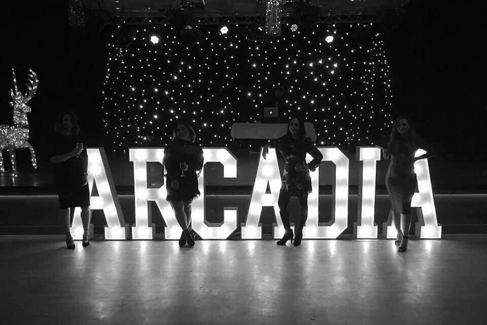Live Wedding Band Hire - Light-Up Letters