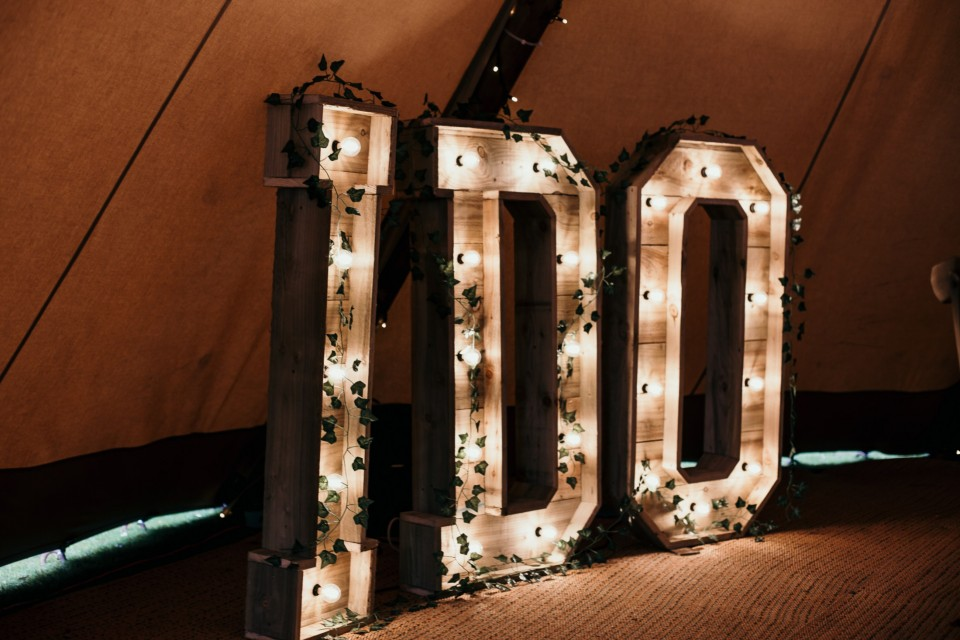 Buckinghamshire Wedding Decor, Styling & Prop Hire - Reclaimed 'I DO' Letters