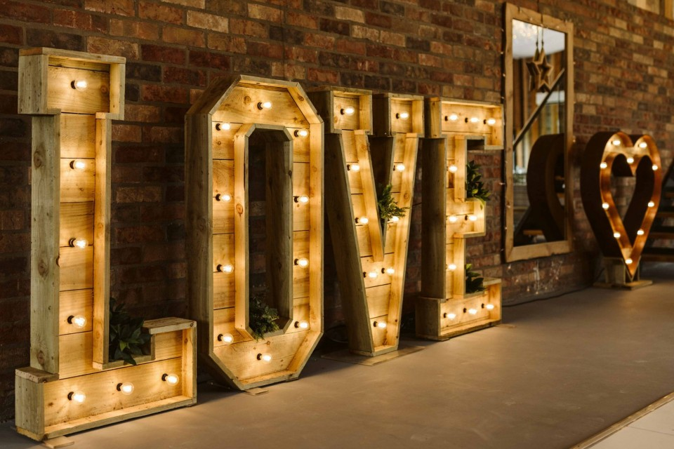 Wedding Decor, Styling, Prop Hire - Sheffield - The Rustic Barn Wedding Package