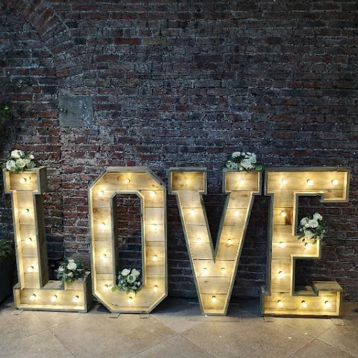 Large standing Love Floor sign