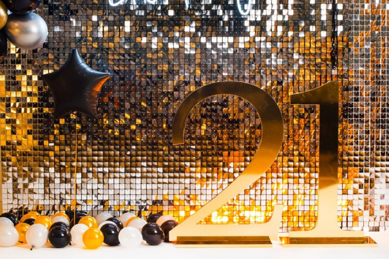 Stunning Sillver Full Wall of Sequins to Hire