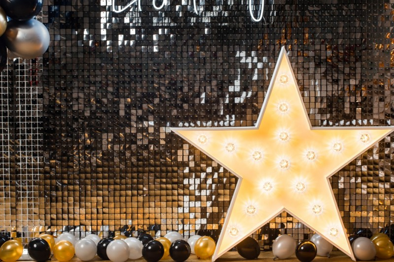 Silver Sequin Wall to Hire