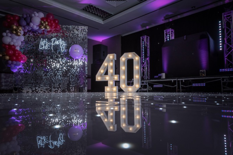 Twinkle LED Dancefloor in White to Hire
