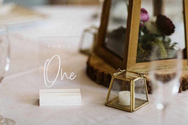 Wedding Table Number Hire Yorkshire