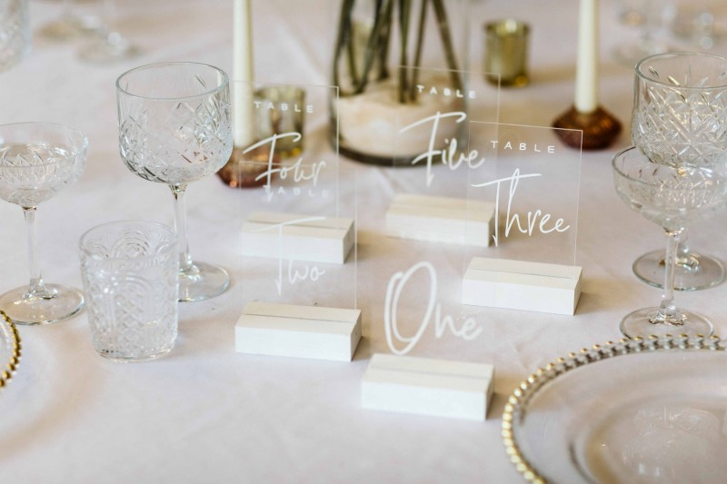 Acrylic WEdding Table Numbers for Hire