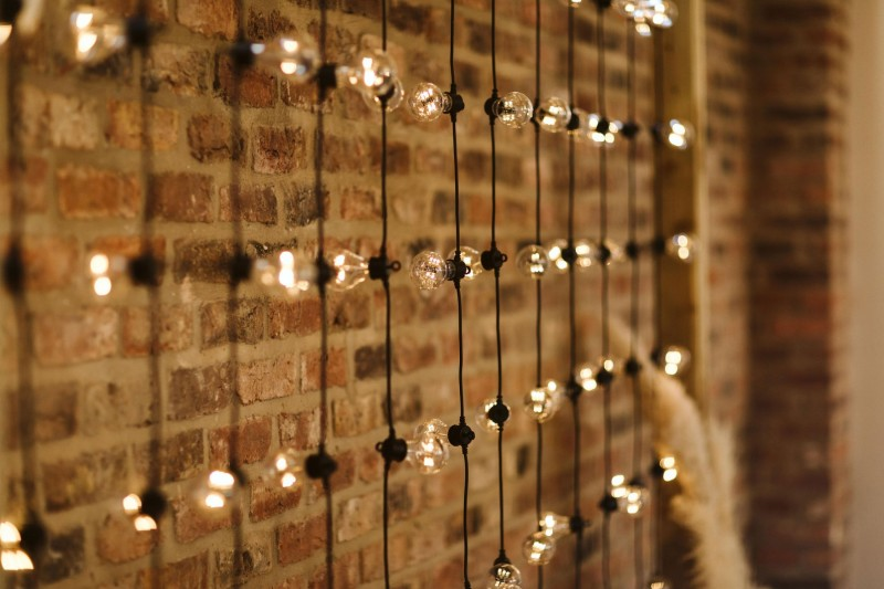 Rustic Frame with Full Festoons to Hire in Sheffield