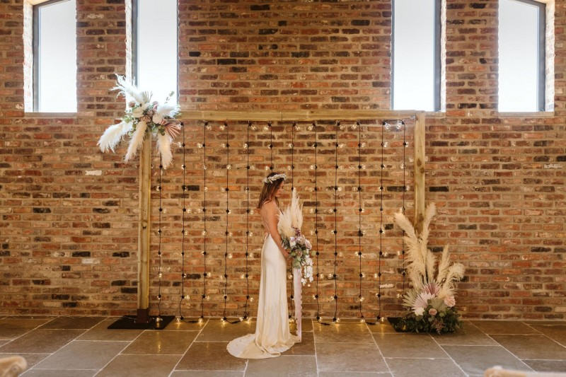 Wedding Backdrop with Faux Florals to Hire
