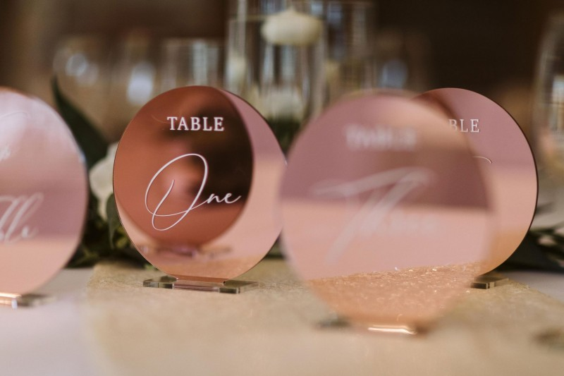 Stunning Rose Gold Wedding Decor
