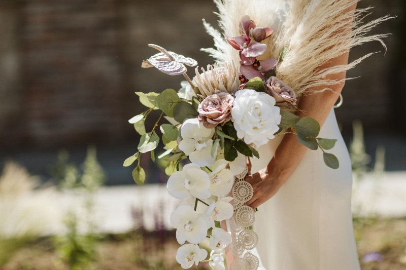 Stunning Pampas Wedding Floral Arrangements for Hire