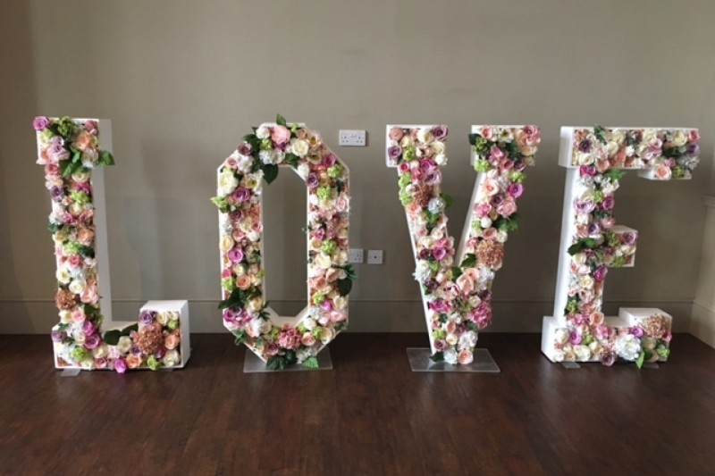floral love letters to hire in wakefield