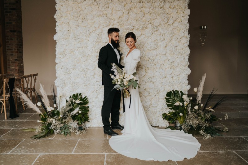Ivory Flower Wall Hire Wakefield