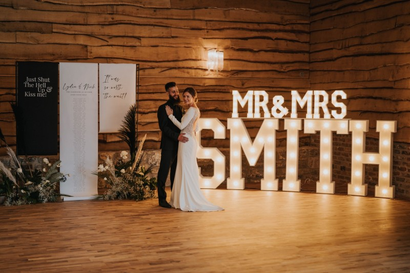 Light Up Wedding Letters to Hire in Leeds Yorkshire