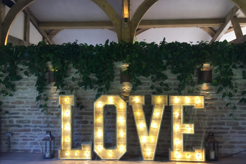 Rustic LOVE Letter Hire Yorkshire