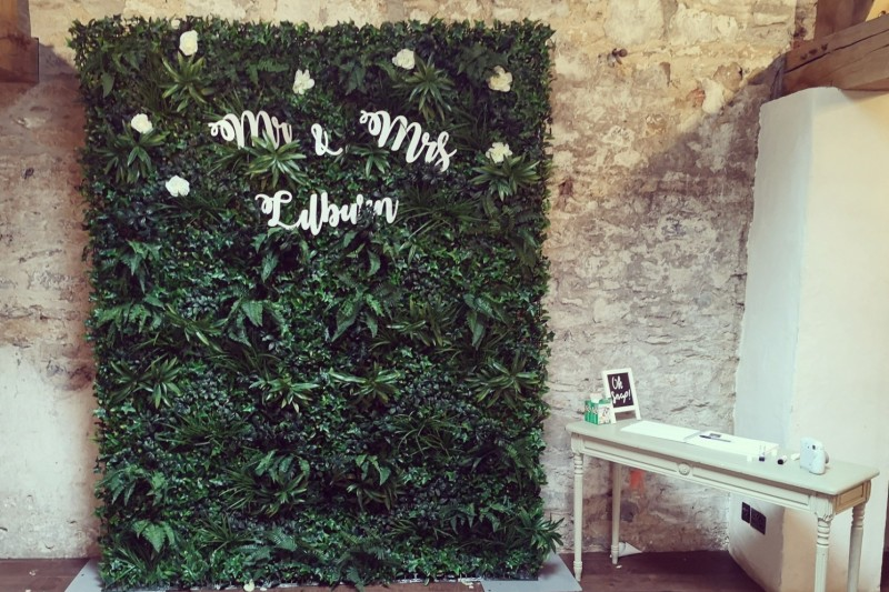 Faux Foliage Wall to Hire in Yorkshire