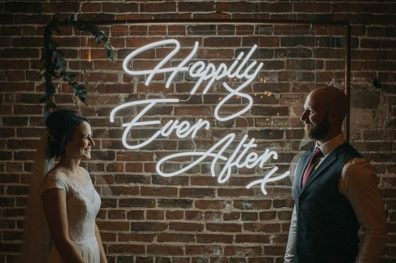 neon wedding sign oulton hall leeds